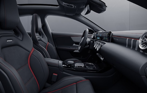 Cars: Mercedes-AMG CLA 35 interior shot.