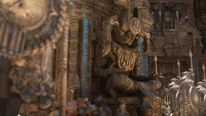 Epic Games shows intricate details in shady lighting.