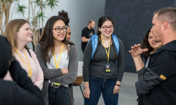 Riot Games held a 7-week program for Girls Who Code at its headquarters.