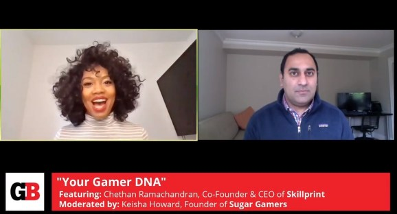 Keisha Howard of Sugar Gamers and Chethan Ramachandran of Skillprint.
