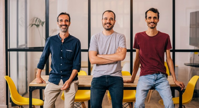 Voicemod founders. Bosch is in the middle.