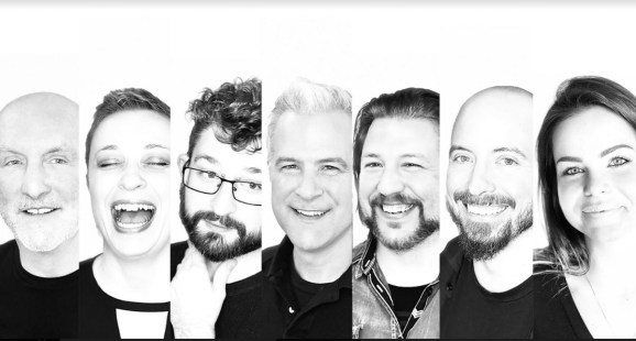 Neon founders (left to right) NEON Founders Mark Long, Naomi Lackaff, Colin Foran, Mark Yeend, Aaron Nonis, Don Norbury, and Gianna Sulyma.