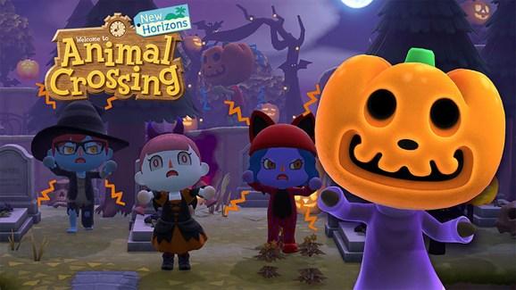 Animal Crossing: New Horizons halloween.