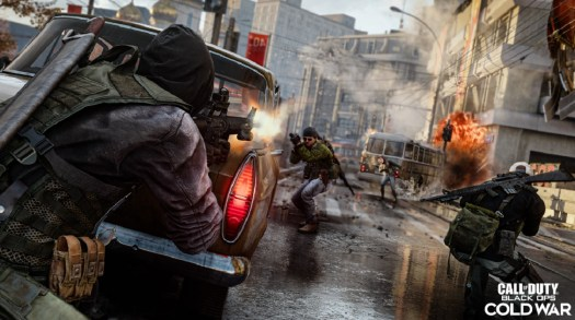 Street battle in Call of Duty: Black Ops -- Cold War.