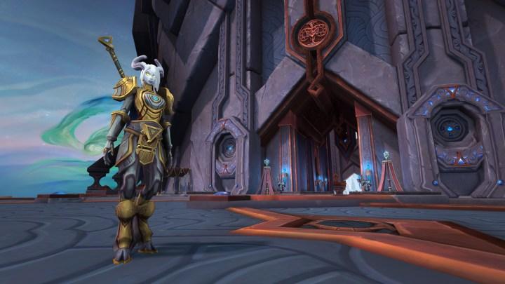 The Warcraft: Shadowlands hub city of Oribos.
