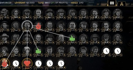 The web of relationships among gangsters in Empire of Sin.