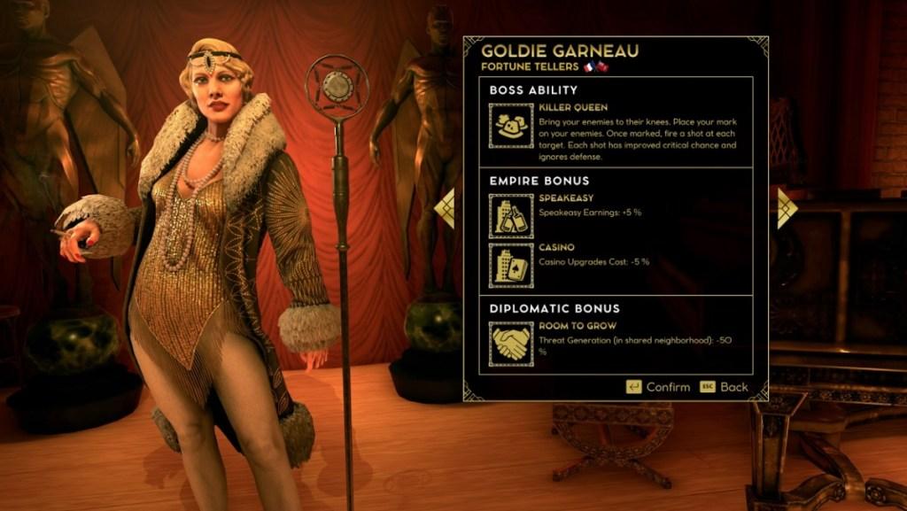 Η Goldie Garneau είναι ένα από τα αφεντικά της Μαφίας στο Empire of Sin.