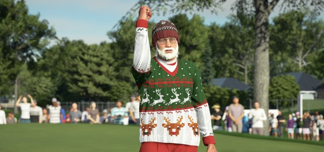 Santa Claus is coming ... to the clubhouse.