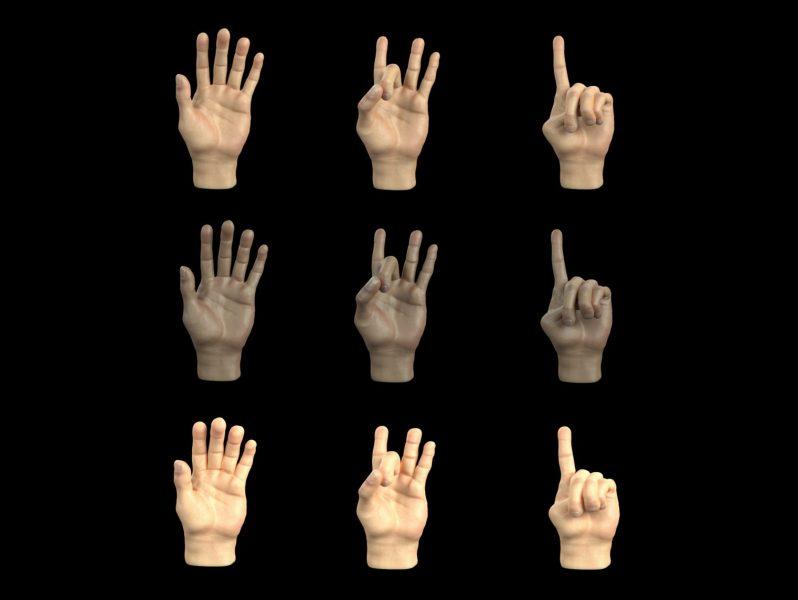 DataGen synthetic hands