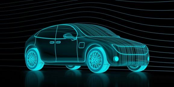 Digital model of a car