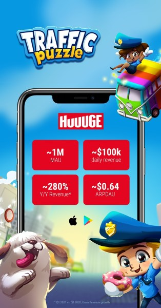 Huuuge acquires match-3 game Traffic Puzzle for $38.9M 2