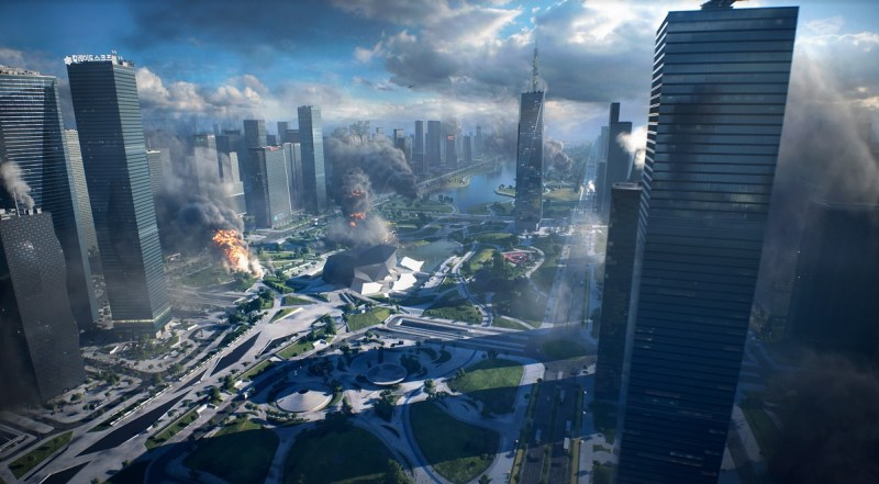 Here's a view of one of the maps of Battlefield 2042.