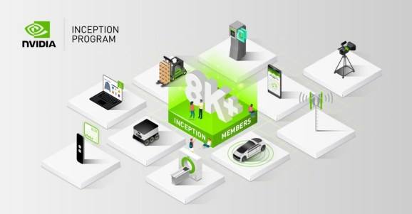 Nvidia's Inception program has 8,500 AI startups.