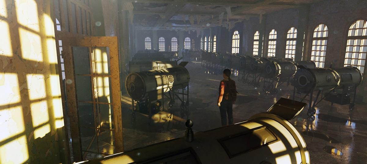Inside a sanitorium.