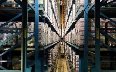 Fulfillmentcenter voor logistiek van de e-commerce sector