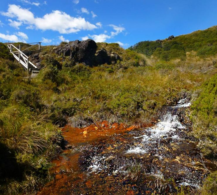 Waterfalls around Tongariro National Park: Silica Rapids