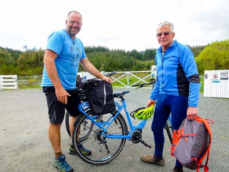 Stuart and Bernard at the start of the trail