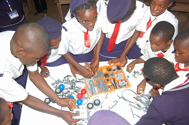 Nigeria's future robotics engineers Credit - ACI Computer Education