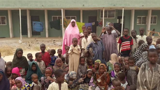 Children at an IDP camp in Nigeria