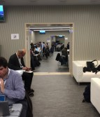 This allowed us into the designated press office where we could relax and hook up to wifi.