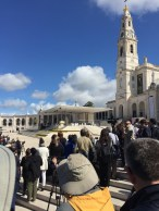 Our designated press area was just outside. Press from around the world were in Fatima to cover the Papal visit.