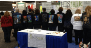 HIMSS15 Walking Gallery Jackets-each tells a patient story