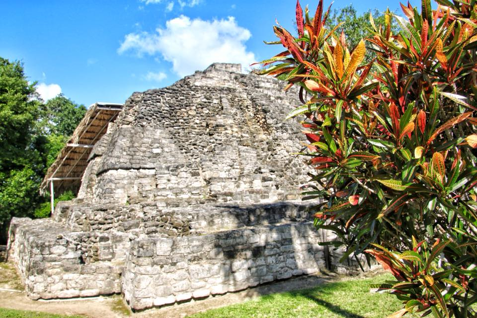 One of the smaller pyramids at the Mayan Ruins of Chacchoben
