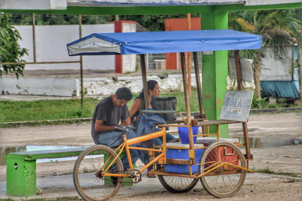 A Roadside Fruit Stand On The Yucatan Peninsula