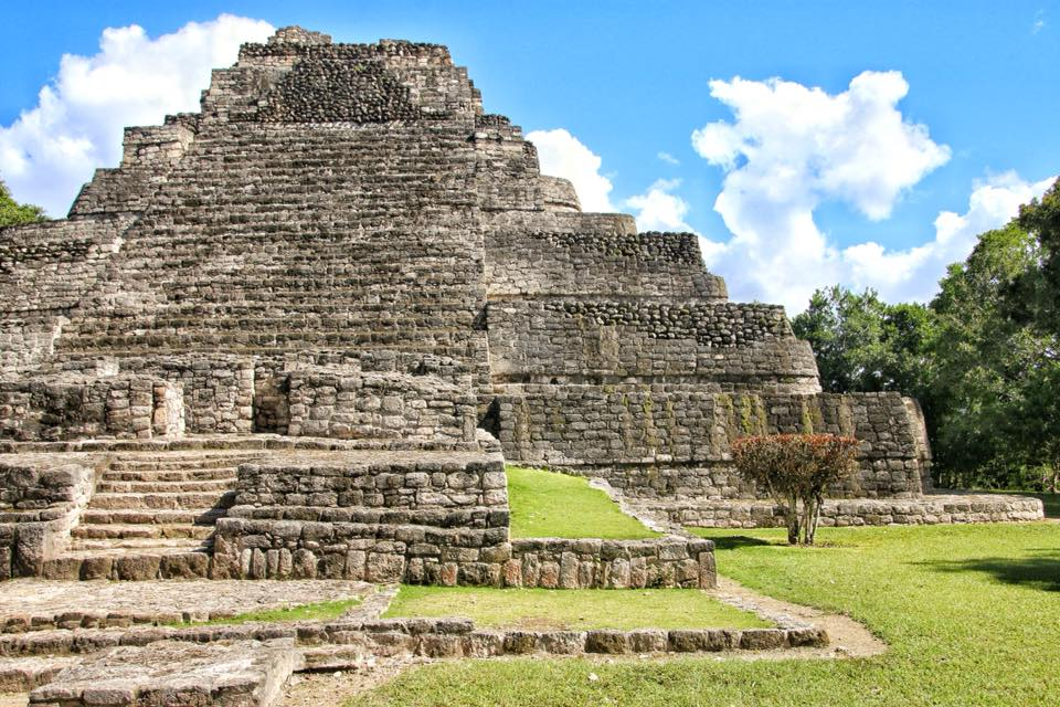 The Ruins Of The Largest Mayan Pyramid At Chacchoben