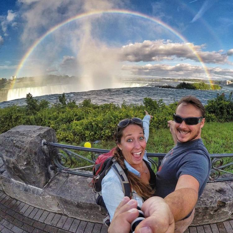 niagara falls double rainbow