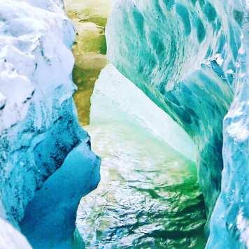 Water Inside A Glacier