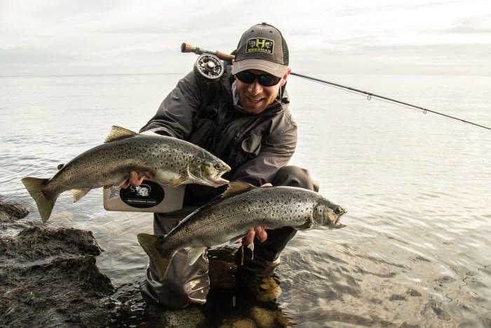 Morten Jensen double sea trout