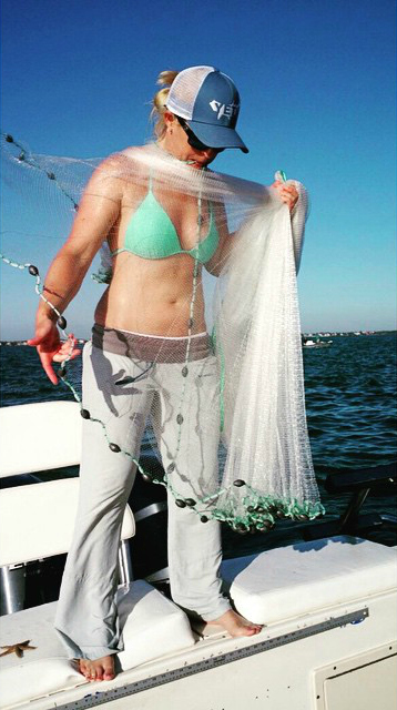 Lacey Kelly fishing