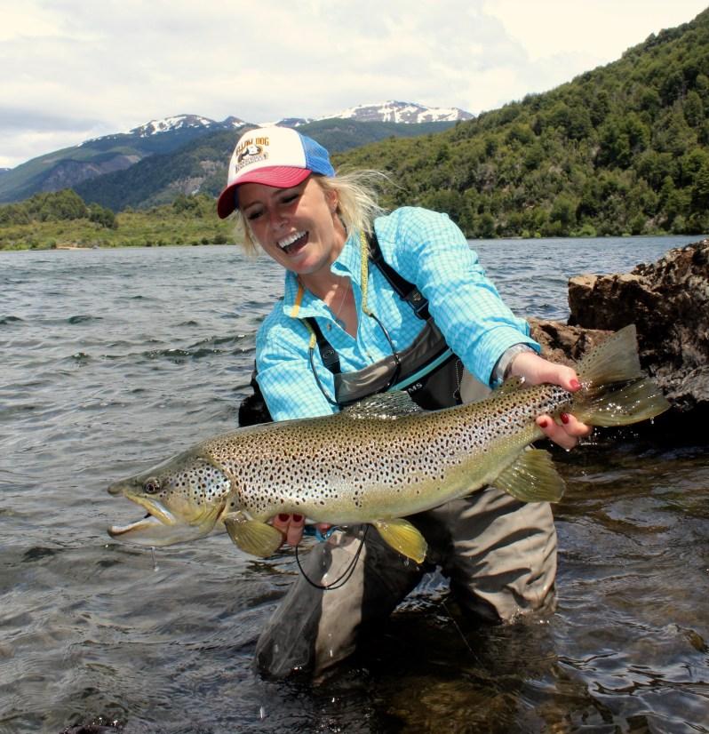 Bessie Hudgens fly fishing