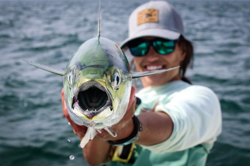 Hilary Hutcheson fly fishing