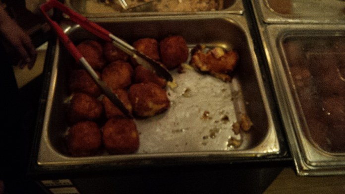 Croquettes filled with cheese and salty meat