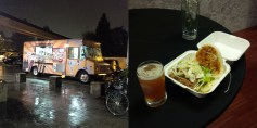 Those brave enough to risk the downpour for the food truck were rewarded with this.