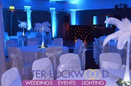 winter wonderland wedding in the red hall hotel