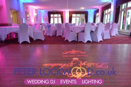 Dunkenhalgh Hotel Wedding Lighting
