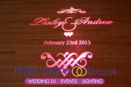 pink wedding monogram