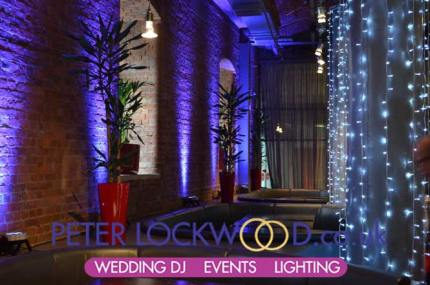 place hotel purple wedding lighting