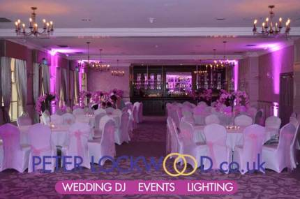 mottram hall wedding lighting
