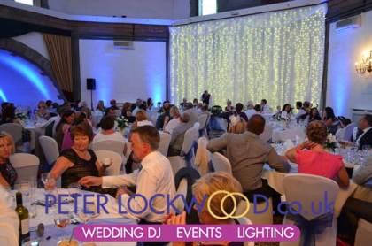 blue wedding lighting cheshire