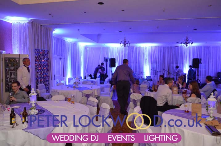 wedding uplighting Hollins Hall Bradford Yorkshire   Hollins
