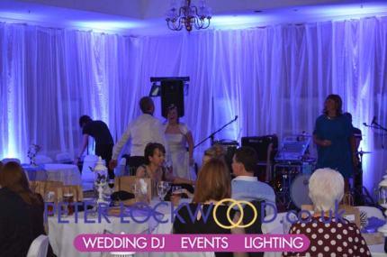 Hollins Hall wedding lighting