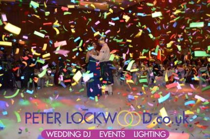 wedding-first-dance-in-the-clouds-with-confetti-at-the-hilton-manchester