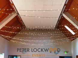 Abbeystead Village Hall Fairy Light Canopy