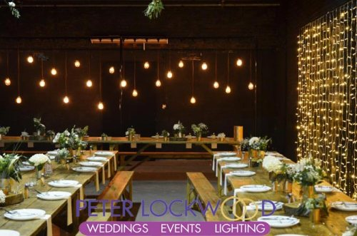 Hope Mill Theater Wedding Lighting