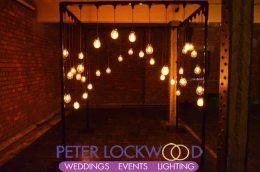 chuppah style wedding edison lamp canopy