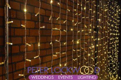 fairy light wedding backdrop